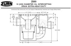 "Zurn Z690 16"" Round Oil Intercepting Drain Extra-Heavy-Duty – MasterBuilder Mercantile Inc. Floor Drains, Conservation, Canning"