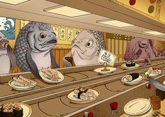 """""""Sushi Bar"""" by Jiaqi He"""