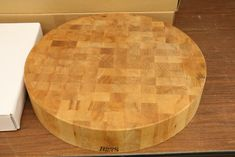 Absolute Auction & Realty Butcher Block Tables, Butcher Block Cutting Board, Boos Blocks, Table Legs, Teak, Auction, Cooking, Kitchen, Home