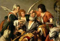 Bernardo Strozzi:The Healing of Tobit, early 1630s