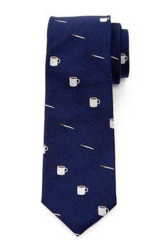 Coffee & Cigarettes Silk Tie