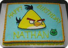 Super cute Angry Birds Cake!