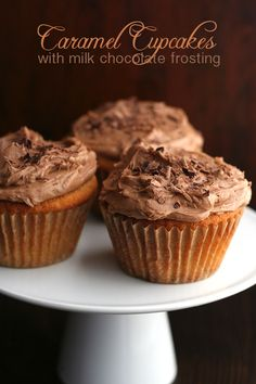 Low Carb Caramel Cupcakes with Milk Chocolate Frosting