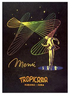 Tropicana Menu - 1955 Havana, Cuba