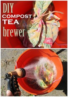 #DIY Compost Tea Brewer. It couldn't be easier and you'll be amazed at how productive compost tea can be for your plants. Compost Soil, Garden Compost, Garden Soil, Lawn And Garden, Garden Tips, Garden Ideas, Garden Projects, Garden Fun, Backyard Projects