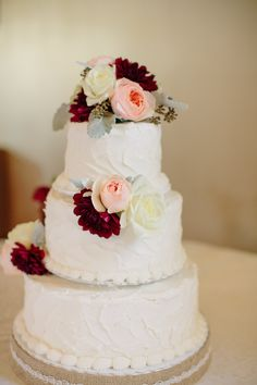 Three-Tiered Buttercream Cake