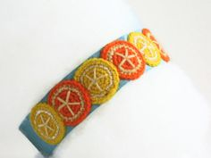 Cute Lemon Orange Headband  Cheerful Delicate Gift by MoonyDolls, €10.00