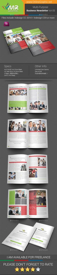 Newspaper template - two pages A3 Best Print templates and