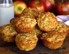Cheesy Lunch Muffins - a Julie Goodwin recipe Lunch Snacks, Savory Snacks, Healthy Snacks, Lunch Box, Muffin Recipes, Baby Food Recipes, Cooking Recipes, Free Recipes, Vegetable Muffins