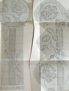 Mary Card filet crochet chart number 53 by sarasellsvintage Crochet Patterns Filet, Crochet Tunic Pattern, Crochet Lace Edging, Crochet Designs, Crochet Doilies, Crochet Stitches, Fillet Crochet, Crochet Decoration, Cross Stitch Fabric