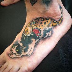 Leopard Monmon Cat Tattoo by Horitomo