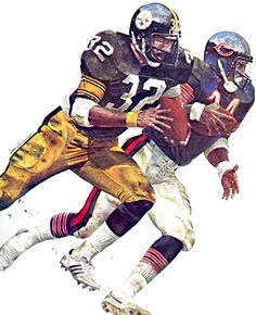 Pittsburgh Steelers Franco Harris and Chicago Bears Walter Payton