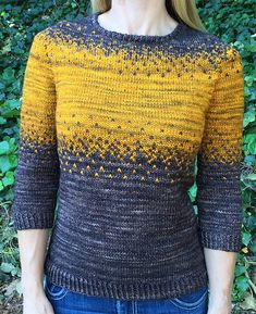Pixelated Pullover pattern by Jennifer Beaumont, Ravelry: Pixelated Pullover pattern by Jennifer Beaumont. Sweater Knitting Patterns, Knitting Designs, Knit Patterns, Baby Knitting, White Knit Sweater, Mohair Sweater, Fair Isle Knitting, Pulls, Knitwear