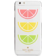 kate spade new york Glitter Fruit iPhone 6/6S Case ($40) ❤ liked on Polyvore featuring accessories, tech accessories, tech, multi and kate spade