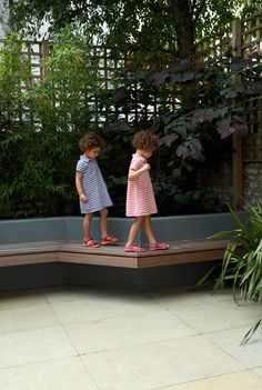 contemporary garden bench cantilevered