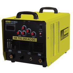 Máy hàn điện tử HK TIG 250AC/DC Máy sử dụng được khi điện yếu ( 180V-240V) Tiết kiệm điện năng 50%-60% Hiển thị dòng hàn kỹ thuật số Hiệu suất làm việc cao. Có chế đồ bảo vệ quá nhiệt, quá tải, nguồn điện không ổn định Có hai chức năng: DC ( hàn que, hàn TIG ARGON)- AC ( hàn nhôm ) Vật liệu hàn : Sắt, Đồng, Inox, Nhôm Ứng dụng: Hàn cửa sắt, Inox, nhôm, vật dụng gia đình, công nghiệp...