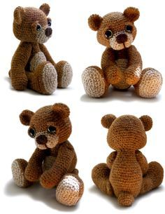 Teddy Bear Amigurumi Crochet Pattern PDF Theo by PatchworkMoose