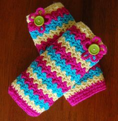 """""""Making Waves"""" Legwarmers~pattern by A Crocheted Simplicity"""