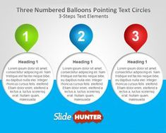 Numbered Balloons PowerPoint Template is an original PowerPoint slide layout with three editable numbered balloons