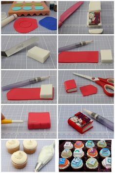 *Free Tutorial* Book cupcake toppers :-) - For all your cake decorating supplies, please visit craftcompany.co.uk