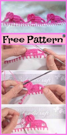 Crochet Elephant Edging – Free Tutorial Elephant Edging Border Crochet Pattern and Video…DIY Crochet Tutorial – How To Make Chain Loop EdgingPetal Cone (Flower) Edging for Afghans [Free Pattern… Crochet Boarders, Crochet Blanket Edging, Crochet Edging Patterns, Crochet Lace Edging, Baby Knitting Patterns, Crochet Designs, Crochet Stitches, Blanket Patterns, Crochet Elephant Pattern Free