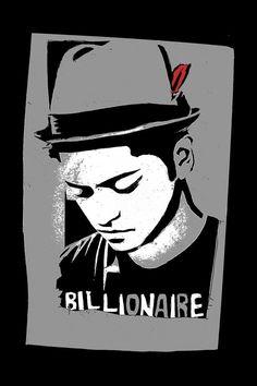 Bruno Mars wearing Billionaire shirt
