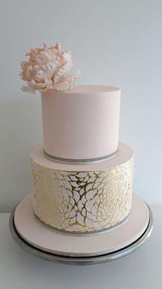 wedding cake metallic summer gold - Google Search