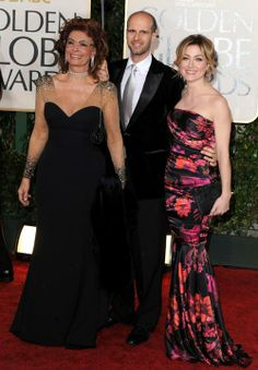 Sophia Loren  with son and daughter in law  Sasha Alexander from Rizzoli and Isles