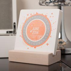 2014 Letterpress Desk Calendar - The Letterpress Shoppe