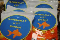 O-Fish-Ally a 2nd Grader Free Treat Toppers - also available for kindergarten, 1st & 3rd grade from The Curriculum Corner