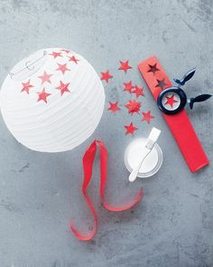 July 4 Paper Lantern Makeover - Martha Stewart Holiday & Seasonal Crafts