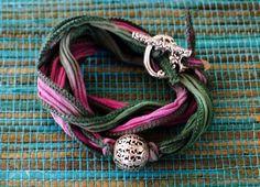 silk wraps ~ Morea Rose Designs Silk Wrap Bracelets, Ribbon Jewelry, Rose Design, Wraps, Personalized Items, My Style, Fashion, Moda, Fashion Styles