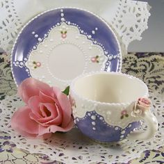 Pretty in Periwinkle Cup & Saucer -- looks like candy