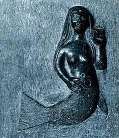 Mermaid, Clonfert, Co Galway. Several Irish & Anglo-Norman families claimed a mermaid as their ancestress attributing her with all the ancient traits of a Goddess - quote Christine Zucchelli in 'Stones of Adoration.'