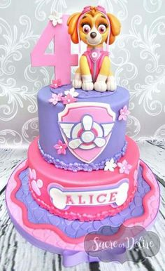 Throw an exceptional get-together for your children's birthday party with these 7 fascinating paw patrol party ideas. The thoughts must be convenient to those who become the true fans of Paw Patrol show. Paw Patrol Birthday Cake, Birthday Cake Girls, Birthday Fun, Birthday Parties, Paw Patrol Torte, Skye Paw Patrol Cake, Girls Paw Patrol Cake, Sky Paw Patrol, Cake Disney