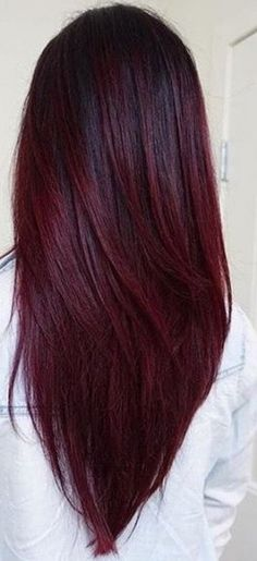 ombre hair Best Hair Ombre Brown Burgundy Ideas t's been a different wine-filled Ombre Hair Color, Cool Hair Color, Brown Hair Colors, Burgundy Color, Brown To Burgundy Hair, Burgundy Hair With Highlights, Burgundy Balayage, Brunette Color, Blonde Brunette