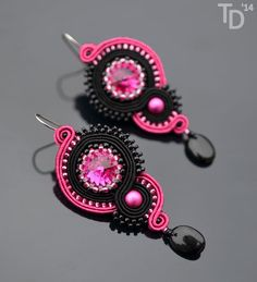 Jewel in the Crowd – Soutache and beaded jewellery Ribbon Jewelry, Bead Embroidery Jewelry, Ribbon Embroidery, Beaded Jewelry, Types Of Embroidery, Jewellery, Soutache Tutorial, Soutache Necklace, Earring Trends