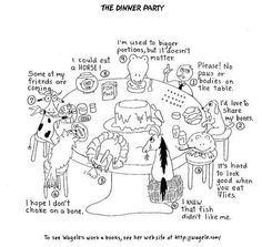 This is a really good Enneagram cartoon for teach kids the Enneagram and maybe even helping them to identify their own type. The Enneagram animal dinner party. Type 4 Enneagram, Enneagram Test, Party Cartoon, Mbti Personality, Myers Briggs Personality Types, Cartoon Photo, Spiritual Development, Character Creation, Cool Cartoons