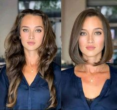Popular Hairstyles, Cool Hairstyles, Brunette Bob Haircut, Medium Hair Styles, Short Hair Styles, Long Hair Cut Short, Easy Hair Cuts, Latest Hair Color, Dyed Blonde Hair