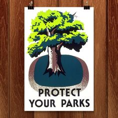 Protect Your Parks by Stanley Thomas Clough - Creative Action Network Works Progress Administration, Community Activities, Educational Programs, Alter, Conservation, Parks, Art Projects, Action, Shapes