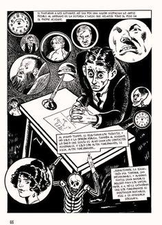 """Cómic de """"El Proceso"""" obra póstuma de Kafka."""