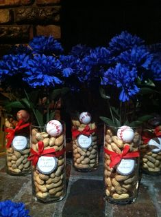 Baseball center pieces