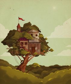Fun treehouse, in a cool style