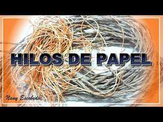 CÓMO HACER HILOS DE PAPEL - YouTube