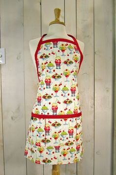 Ice Cream Sundae Adult  Apron  Reversible by luckyduckydesigns, $44.00