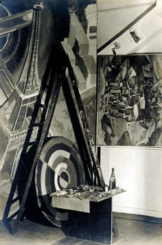 Atelier of Robert Delaunay, Paris, 1926 -by Germaine Krull  from sotheby's