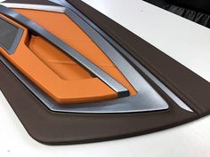 custom door panels inserts,   #BecauseSS fiberglass, router work.... modern chevelle maybe? brown orange tan beige and black and silver grey mesh, and aluminum, carbon fiber