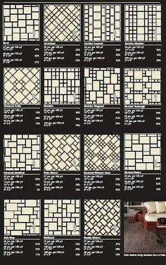 Tipos de fundos para mosaico