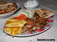 Gyros de porc facut acasa - Bucataria cu noroc Noroc, Party Platters, French Toast, Breakfast, Morning Coffee