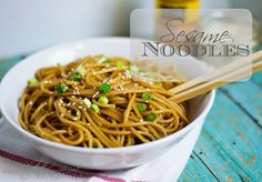 A quick and simple recipe for one of your favorite take-out dishes Sesame Noodles!  [Add protein, cx or shrimp]   www.thekitchenwife.net